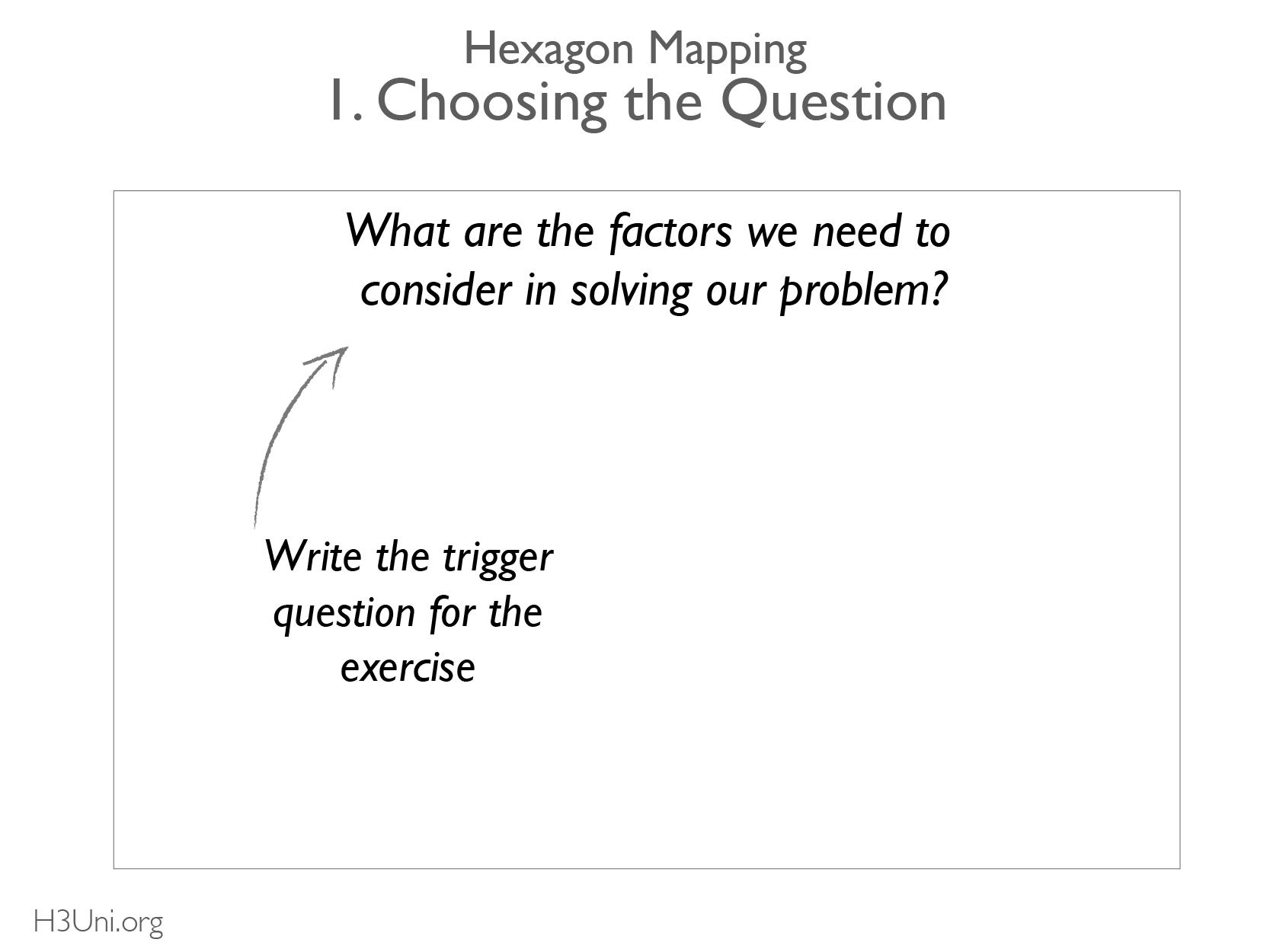 Hexagon - 1. Choosing hte Question